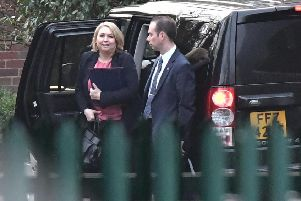 Secretary of State Karen Bradley arrives at Stormont House  in Belfast for talks with local parties alongside Theresa May earlier this month. 'Photo Colm Lenaghan/Pacemaker Press