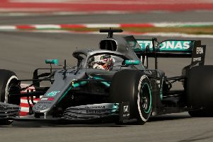 Mercedes Lewis Hamilton during day three of pre-season testing at the Circuit de Barcelona-Catalunya