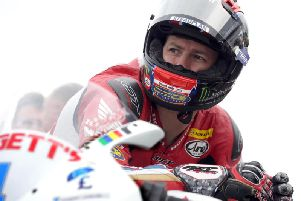 Ian Hutchinson at the North West 200 in 2018.
