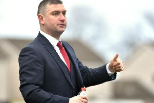 Portadown manager Matthew Tipton. Photo by Tony Hendron.