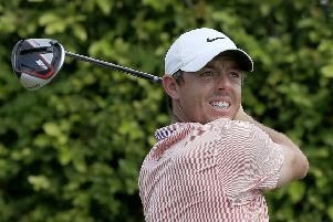 Rory McIlory  plays his shot from the ninth tee during the third round of the Arnold Palmer Invitational Presented by Mastercard at the Bay Hill Club