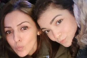 Giselle Irina Marimon Herrera (left) and her daughter Allison Marimon Herrera