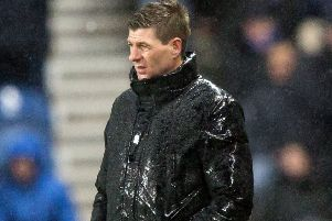 Rangers boss Steven Gerrard during last night's Scottish Hill defeat. Pic by PA.