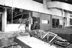 The aftermath of the fatal IRA bomb attack on the Mulberry Bush pub in Birmingham on the night of November 21, 1974