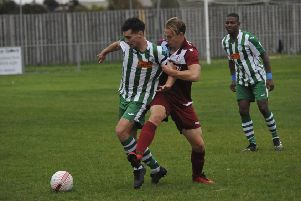 Action from the reverse fixture between Little Common and Chichester City. Picture by Simon Newstead