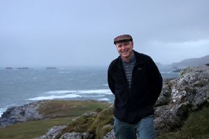 Paul Clements at Banba's Crown, Malin Head in Co Donegal along the Wild Atlantic Way.  Photo by Evan McElligott