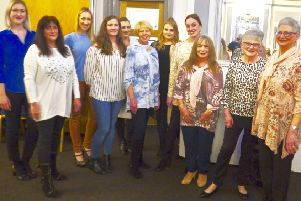 Some of the models at the Warwick Lions' fashion show. Photo submitted.