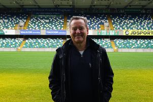 Jeff Stelling at the National Stadium