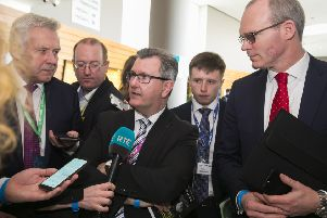 DUP MP Sir Jeffrey Donaldson at the Fine Gael National Conference in Wexford. Photo: Patrick Browne/Fine Gael /PA Wire