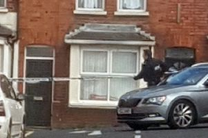 Police activity in Dunluce Avenue in south Belfast, at the scene of an ongoing incident. 'PRESS ASSOCIATION Photo.