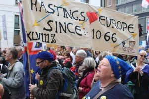 Hastings people at Pro-Remain march SUS-190325-101219001