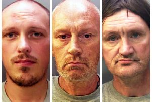 David Gaut Murder: from left to right, Ieuan Harley, 23 who was convicted of murdering David Gaut; Darran Evesham, 47, who was found guilty of perverting the course of justice and David Osborne, 51, who was also found guilty of perverting the course of justice. (Photo: P.A.)