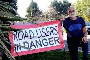 Mick Steer is worried about plans for Lidsey Road. Picture by Kate Shemilt. ks190146-1