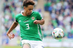 Northern Ireland's Jamal Lewis