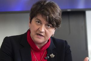 DUP leader Arlene Foster. Photo: Steve Parsons/PA Wire