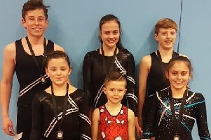 Back row, from left: Ashley Frost, Talia Finch, Leon Ercegovic. Front row, from left: Darci O'Callaghan, Riley Homan, Maddie Luke.