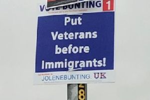Some of Jolene Bunting's election posters have been branded 'racist' - an ellegation the independent candidate denies