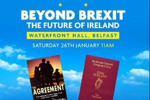 The programme cover of a 'civic nationalism' event at Belfast's Waterfront hall earlier this year that attracted more than 1,500 people