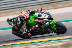 Jonathan Rea had to dig deep to finish as the runner-up in Saturday's opening World Superbike race at Aragon in Spain.