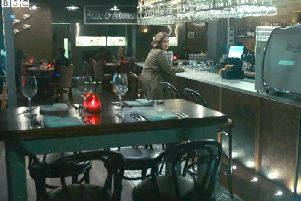 Screengrab of Stix and Stones restaurant during the filming of Line of Duty