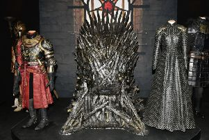 The Iron Throne at Game of Thrones: The Touring Exhibition.  Pic Colm Lenaghan/Pacemaker