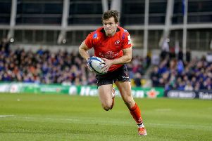 Ulster winger Jacob Stockdale