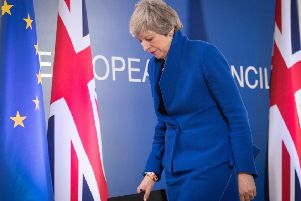 Prime Minister Theresa May holds a news conference after the European Council in Brussels where European Union leaders met to discuss Brexit. Photo: Stefan Rousseau/PA Wire
