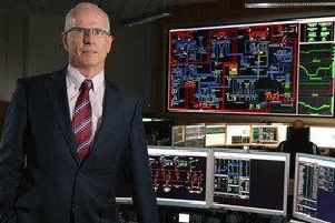 SONI's general manager, Robin McCormick, in the Belfast control room. But the grid can also now be operated from Dublin