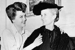 Angela Lansbury (left) and mother, Moyna MacGill, in Kind Lady, 1951