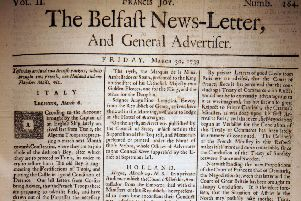 The Belfast News Letter of March 30 1739 (April 10 modern calendar)
