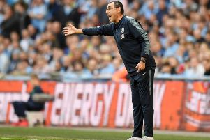 Maurizio Sarri, whose presence in the technical area has divided Chelsea fans / Picture by Getty Images