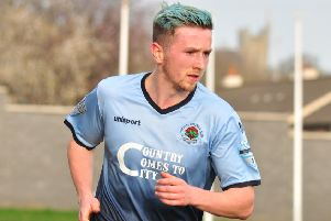 Institute midfielder Ronan Doherty returns from suspension.