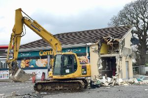The scene of a previous ATM theft in Dungiven, Co Londonderry earlier this month Pic: D.avid Young/PA Wire