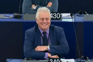Jim Nicholson, who is retiring, pictured in the European Parliament last month