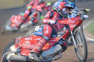 Action from heat five as Bradley Wilson-Dean leads the way for Panthers. Photo: David Lowndes.