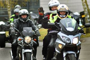 The annual motorcycle Easter egg run visits Melton's Birch Wood Area Special School for the first time EMN-190416-103721001