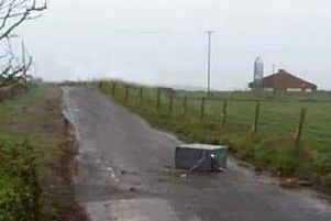 ATM found lying on road outside Bushmills - MCAULEY Media