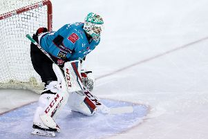 Belfast Giants netminder Tyler Beskorowany at the SSE Arena, Belfast.  Photo by William Cherry/Presseye