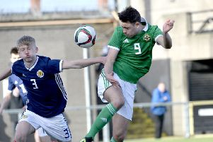 Callum Ferris in action against Scotland