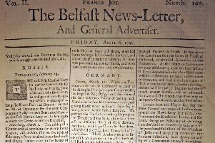 The Belfast News Letter of April 6 1739 (April 17 in the modern calendar)