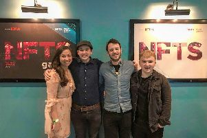 The Now or Never film crew at their graduation screening