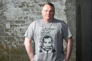 Bradley Welsh pictured here in a promotional shoot for the Trainspotting T2 movie. Picture: Greg Macvean
