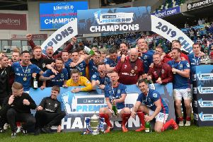 David Healy reaction as Linfield get their hands on Gibson Cup