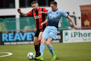 Institute's Ronan Doherty scored the winner against Newry City.
