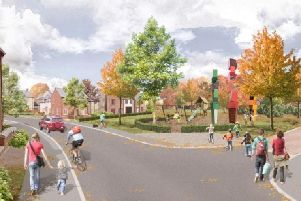 Illustrative artist's impression of new homes planned for Pagham off Hook Lane