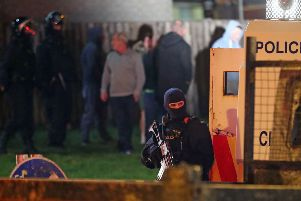 Armed police at the scene in Creggan, Londonderry, the night Lyra was shot. What would the reaction have been if one of those PSNI officers had been killed? Photo: Niall Carson/PA Wire