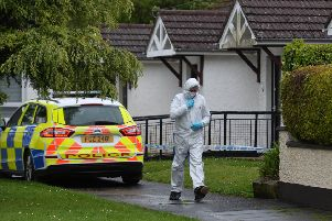Forensics at the scene of a stabbing incident at Cairn Walk in Crumlin. 'Pic: Pacemaker