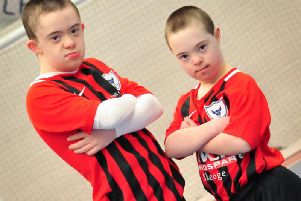 Adam and Caoimhin from the Oxford Bulls, ready to take on the Celtic Legends on 5th May.
