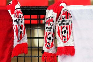 A view of Derry City scarves ahead of a recent game at Brandywell. Photograph by Lorcan Doherty (Inpho),