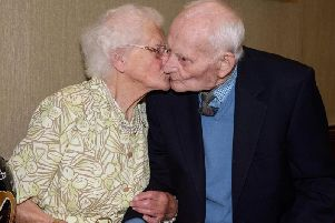 Nellie and her husband Joseph at her 100th celebration